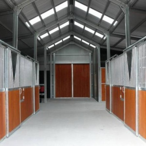 Prefabricated steel stables