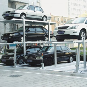 Parking steel frame