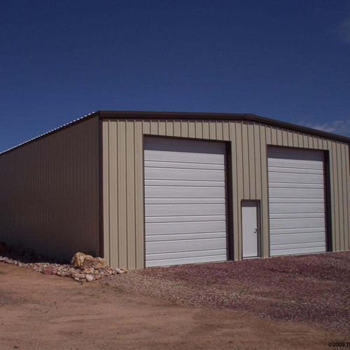 Double Door Steel Structure Garage Building
