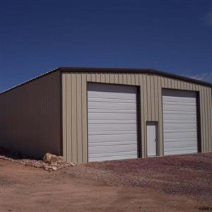 Double Door Steel Structure Garage