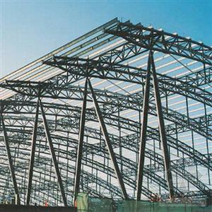 Prefabricated steel materials storage for Prefab trusses