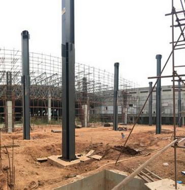 Steel Structure A Workshop In Sanquan Food