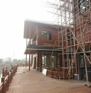 Steel structure villa in Guangya