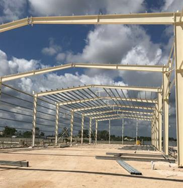 Steel structure warehouse in Dominica