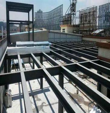 Steel structure platform in Lunjiao