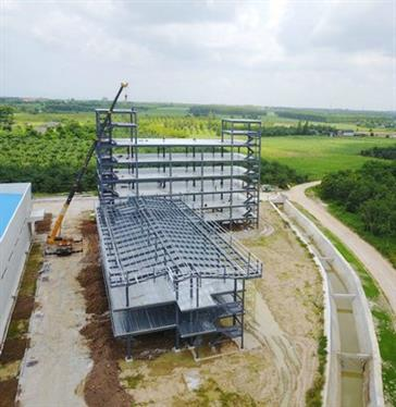 Steel structure Dormitory & office in Thailand