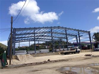 Steel structure workshop building prevent the storage, transport and erection