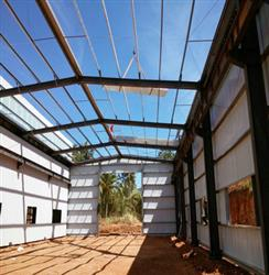 Weight of steel frame structures