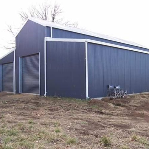 Prefabricated steel materials storage