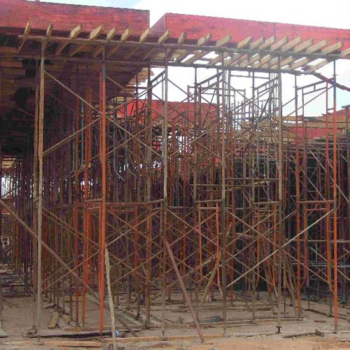 Prefabricated steel scaffolding