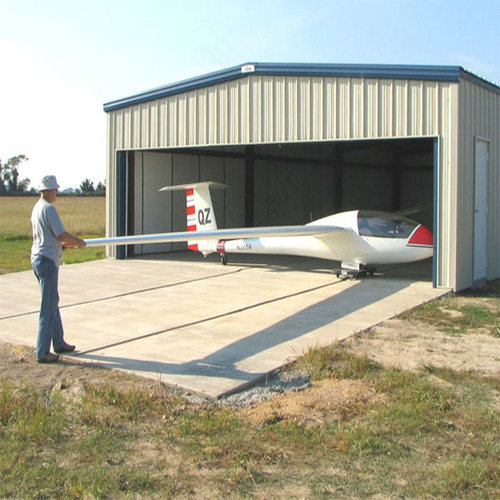 Small steel structure hangar
