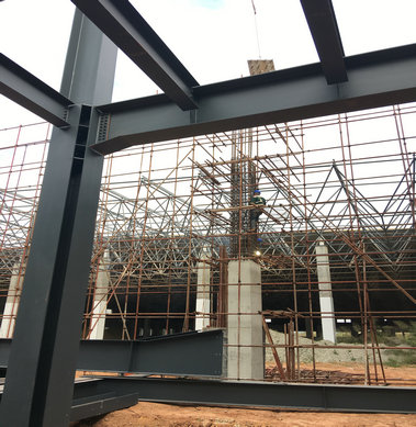 Steel structure workshop in Sanquan food-5